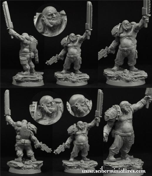 28mm Fantasy Miniatures: 28mm SF Cossack Ogre #1 (1)