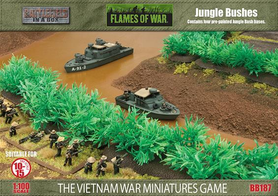 Battlefield in a Box: Flames of War: Jungle Bushes (x6)