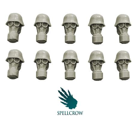 28mm WWII: Blitzkrieg Heads in Gas Masks