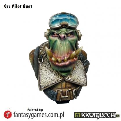 Kromlech Miniatures: Orc Pilot Bust