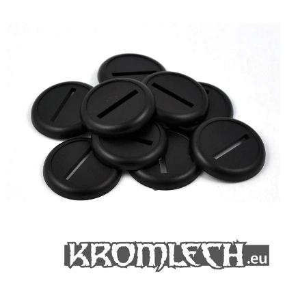 Kromlech Conversion Bitz: Round 30mm Slotted Bases with Lip (10)
