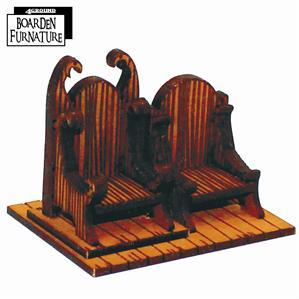28mm Furniture: Boarden Royal Throne x1 (light wood)