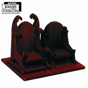 28mm Furniture: Boarden Royal Throne x1 (medium wood)