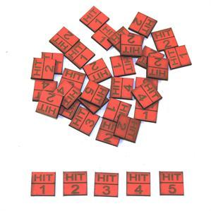 Game Tokens: 4Ground Hit Marker Set