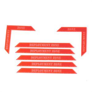 Game Tokens: 4Ground Deployment Zone Markers Set (Red)