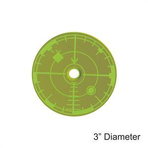 Game Tokens: 4Ground 3'' Blast Template (Green)