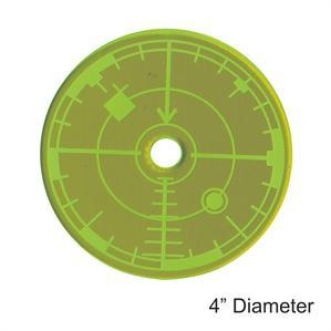 Game Tokens: 4Ground 4'' Blast Template (Green)