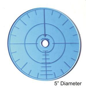Game Tokens: 4Ground 5'' Blast Template (Blue)