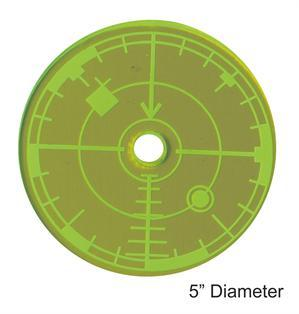 Game Tokens: 4Ground 5'' Blast Template (Green)