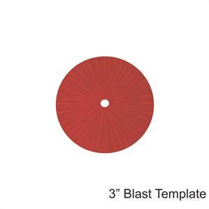 Game Tokens: 4Ground 3'' Blast Template (Red)
