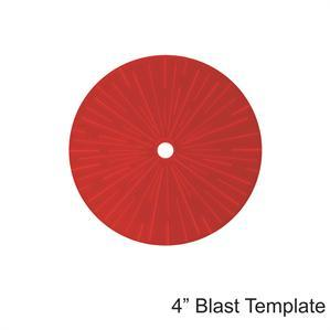 Game Tokens: 4Ground 4'' Blast Template (Red)