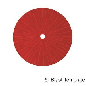 Game Tokens: 4Ground 5'' Blast Template (Red)