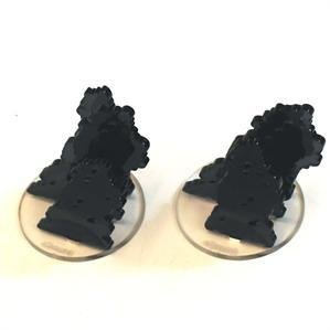 Game Tokens: 4Ground 2'' Diameter Smoke Markers (Dark Grey)