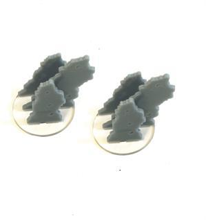 Game Tokens: 4Ground 2'' Diameter Smoke Markers (Grey)