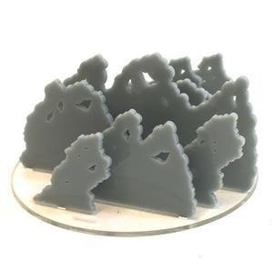 Game Tokens: 4Ground 6'' Diameter Smoke Markers (Grey)