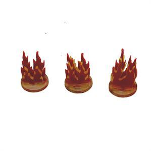 Game Tokens: 4Ground 3x 1'' Fire Markers (A)