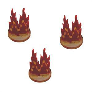 Game Tokens: 4Ground 3x 1'' Fire Markers (B)