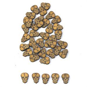 Game Tokens: 4Ground Skull Wound Marker Set