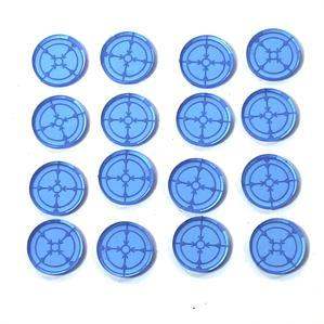 Game Tokens: 4Ground Marker Light/Lock On Token Set (Blue)