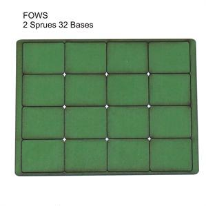 4Ground Pre-primed Miniature Bases: FOW Small Bases (32) - Green