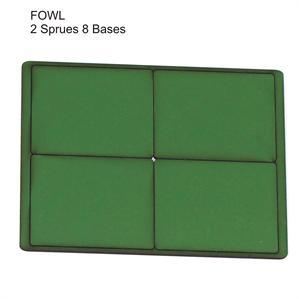 4Ground Pre-primed Miniature Bases: FOW Large Bases (8) - Green