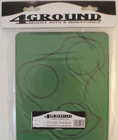 4Ground Pre-primed Miniature Bases: (1) Large Tree Base - Green