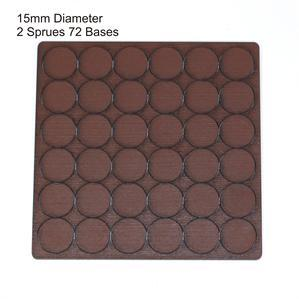 4Ground Pre-primed Miniature Bases: 15mm Diameter Bases (72) - Brown