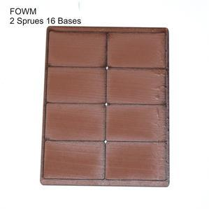 4Ground Pre-primed Miniature Bases: FOW Medium Bases (16) - Brown