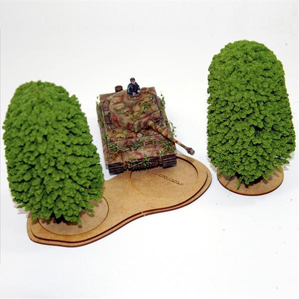 4Ground Pre-primed Miniature Bases: (1) Small Tree Base - Brown