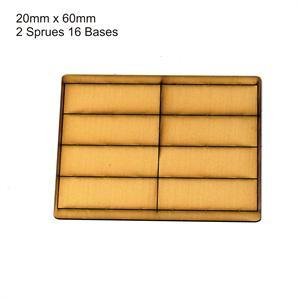 4Ground Pre-primed Miniature Bases: 20mm x 60mm Bases (16) - Tan