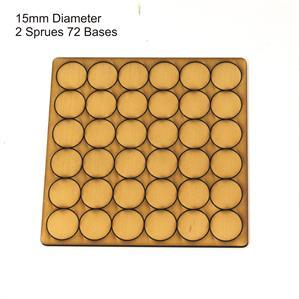 4Ground Pre-primed Miniature Bases: 15mm Diameter Bases (72) - Tan