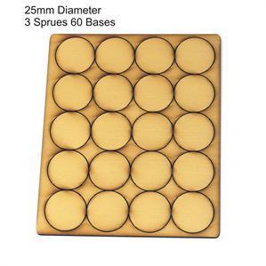 4Ground Pre-primed Miniature Bases: 25mm Diameter Bases (60) - Tan