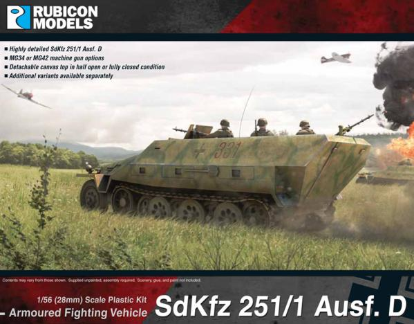 28mm WWII: (German) SdKfz 251/1 Ausf D
