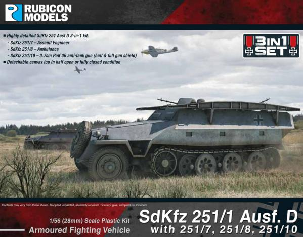 28mm WWII: (German) SdKfz 251D ''3-in-1'' Combo Kit #1