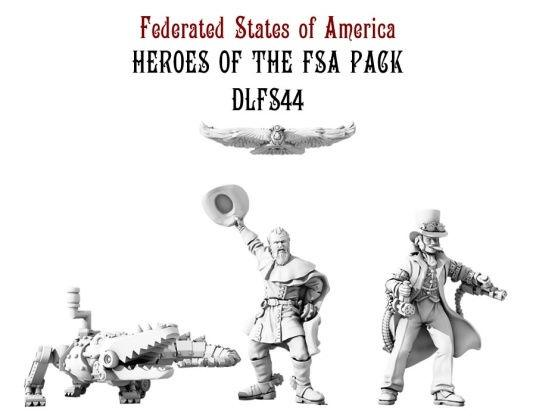 (Federated States Of America) Heroes Of The Empire Set