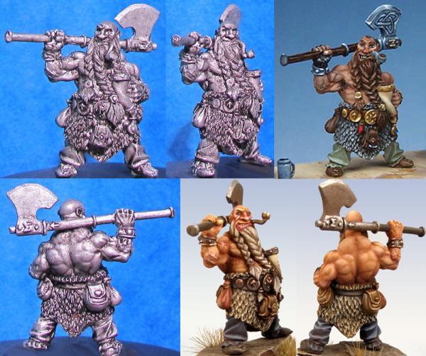 Hasslefree Miniatures: Ryjka MacHroth, Blackrock Dwarf w/pipe