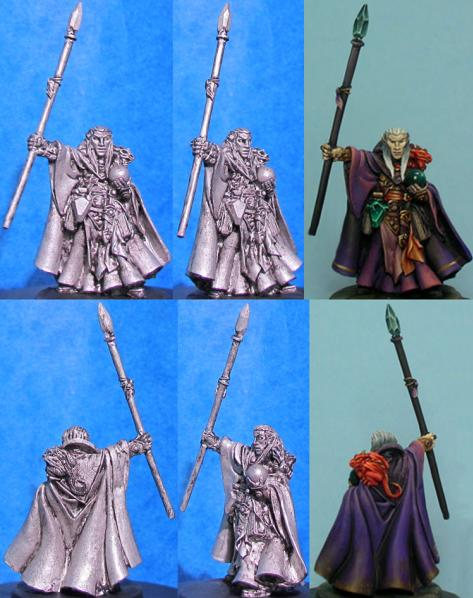 Hasslefree Miniatures: Elves - Laersy kevandil, Dragonkin. Mage w/Baby Dragon