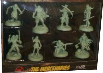 Greenbrier Games: Sacred 40 Miniatures: Mercenaries Set