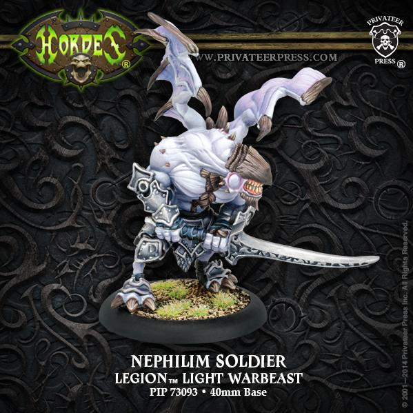 (Legion Of Everblight) Nephilim Soldier Light Warbeast (plastic)