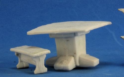 Dark Heaven Bones: Table & Benches
