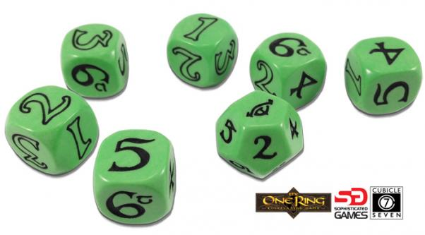 The One Ring RPG: Dice Set - Green