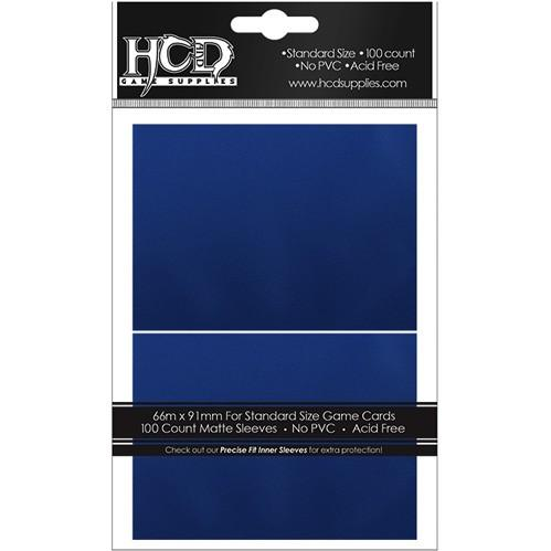 Gaming Accessories:  Matte Blue Sleeves (100)