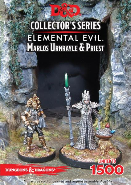 D&D Collector's Series: Temple of Elemental Evil: Marlos Urnrayle & Priest (2 Figs)