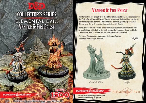 D&D Collector's Series: Temple of Elemental Evil: Vanifer & Priest (2 Figs)