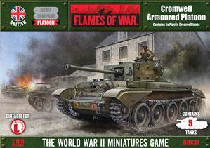 Flames Of War (WWII): (British) Cromwell Armored Platoon (Plastic)