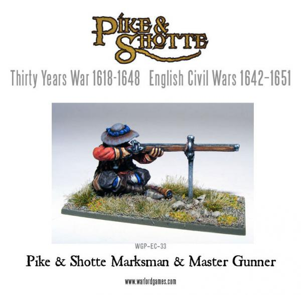 28mm Pike & Shotte -  Marksman & Master Gunner
