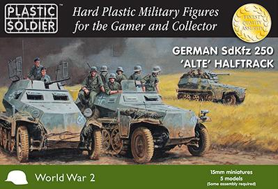 15mm WWII (German): 15mm German SdKfz 250 alte halftrack