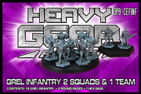 Heavy Gear: C.E.F. GREL Infantry 2 Squads and 1 Team Pack