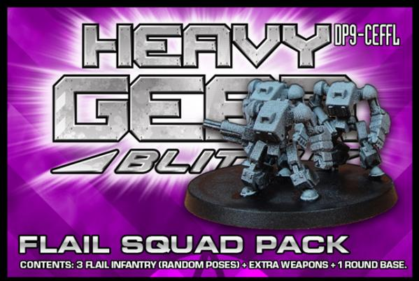 Heavy Gear: C.E.F. FLAIL Squad Pack