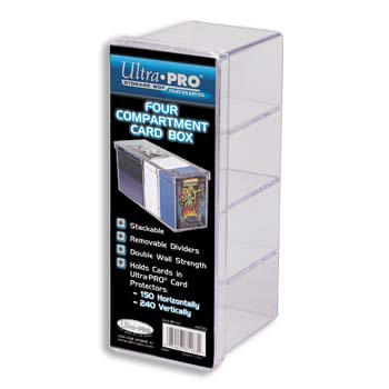 Ultra-Pro: Four Compartment Card Box (Clear)